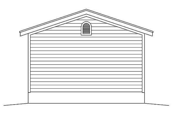 Rear Elevation of Plan 51590