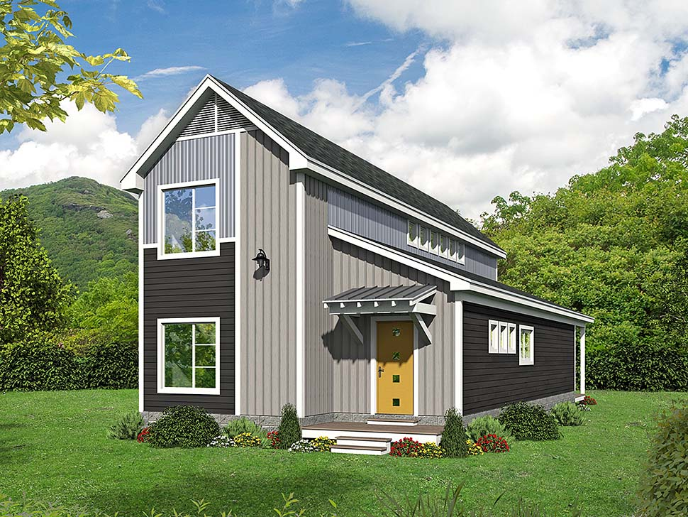 Cabin , Country , Traditional House Plan 51592 with 3 Beds, 2 Baths Elevation