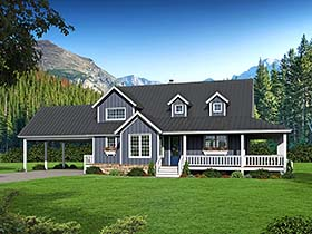 House Plan 51593 | Country Farmhouse Southern Style Plan with 2229 Sq Ft, 3 Bedrooms, 3 Bathrooms, 2 Car Garage Elevation