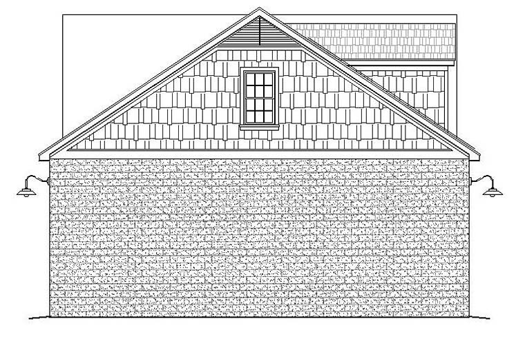Traditional 4 Car Garage Plan 51598, RV Storage Picture 2