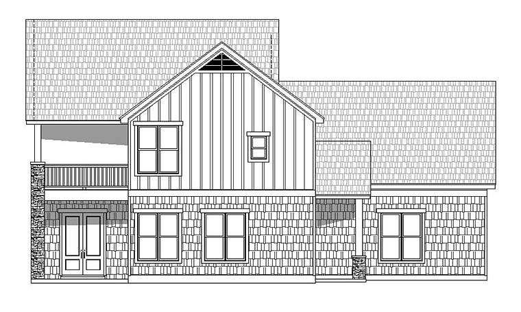 Colonial, Southern, Traditional House Plan 51599 with 3 Beds, 3 Baths, 2 Car Garage Picture 2