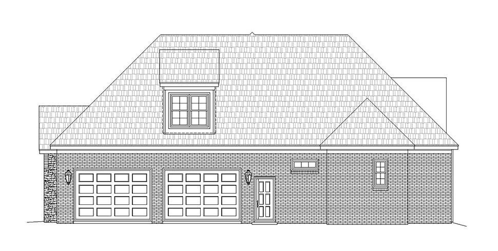 European, French Country House Plan 51602 with 3 Beds, 3 Baths, 2 Car Garage Picture 1