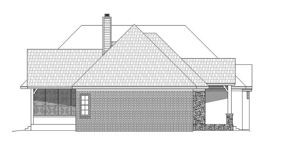European, French Country House Plan 51602 with 3 Beds, 3 Baths, 2 Car Garage Picture 2