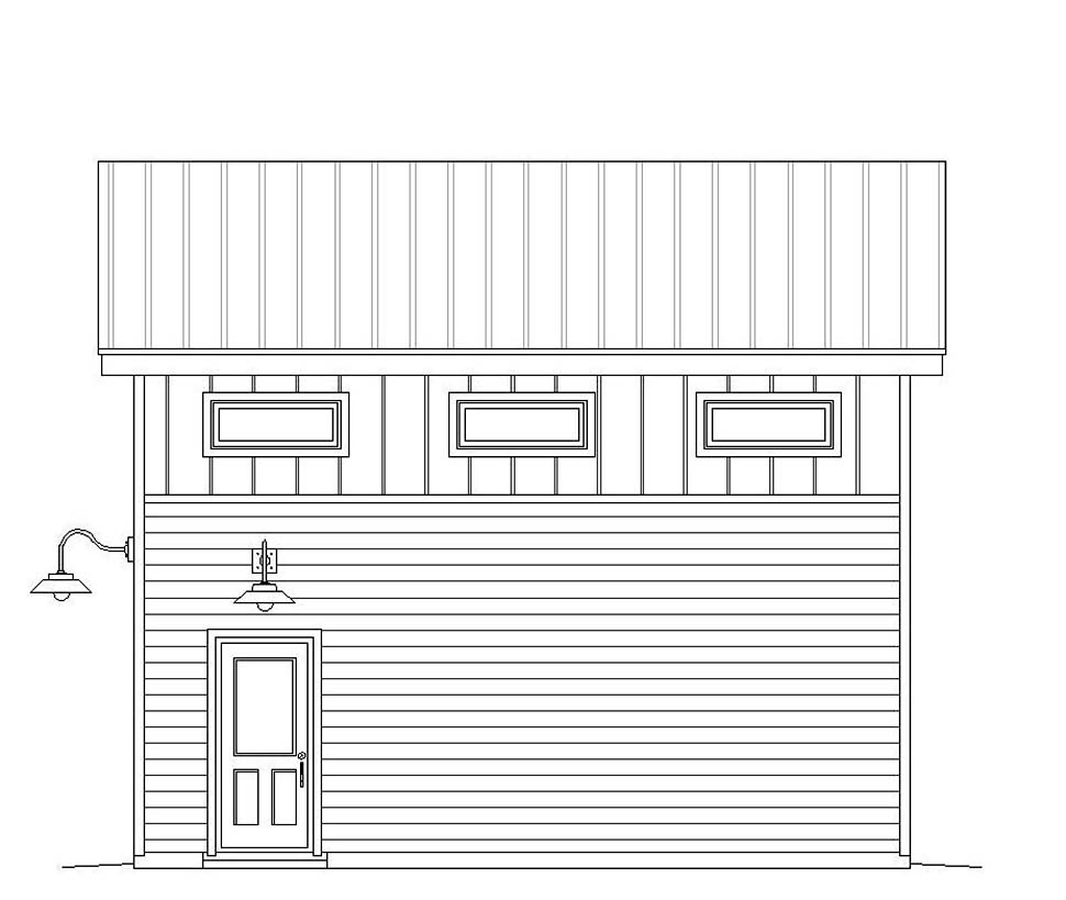 Contemporary, Modern 2 Car Garage Plan 51607 Picture 1