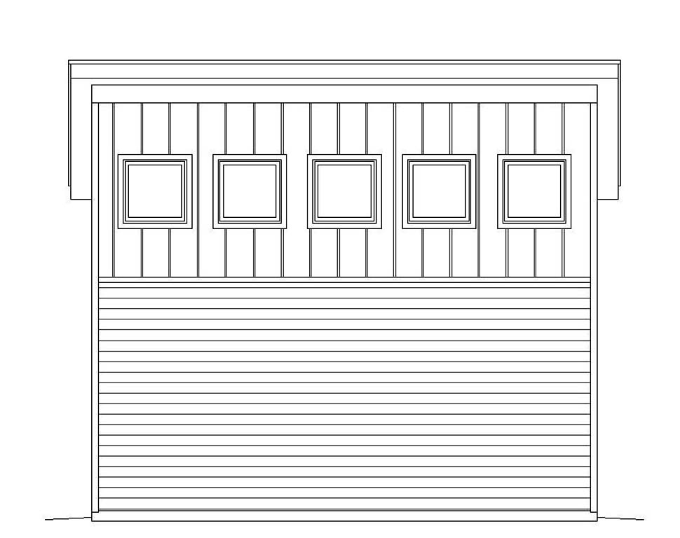 Contemporary, Modern 2 Car Garage Plan 51607 Picture 2