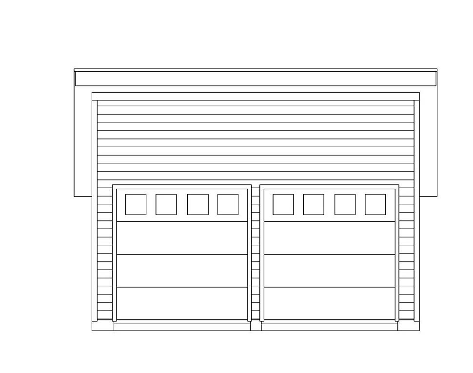 Modern 2 Car Garage Plan 51608 Picture 3