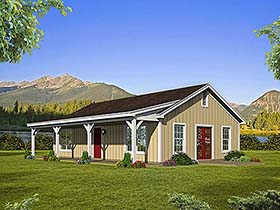 Country Ranch House Plan 51610 Elevation