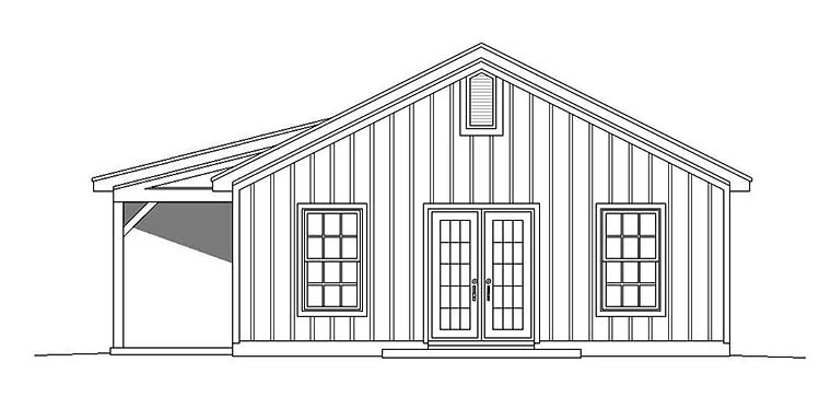 Country, Ranch House Plan 51610 with 2 Beds, 1 Baths Picture 1