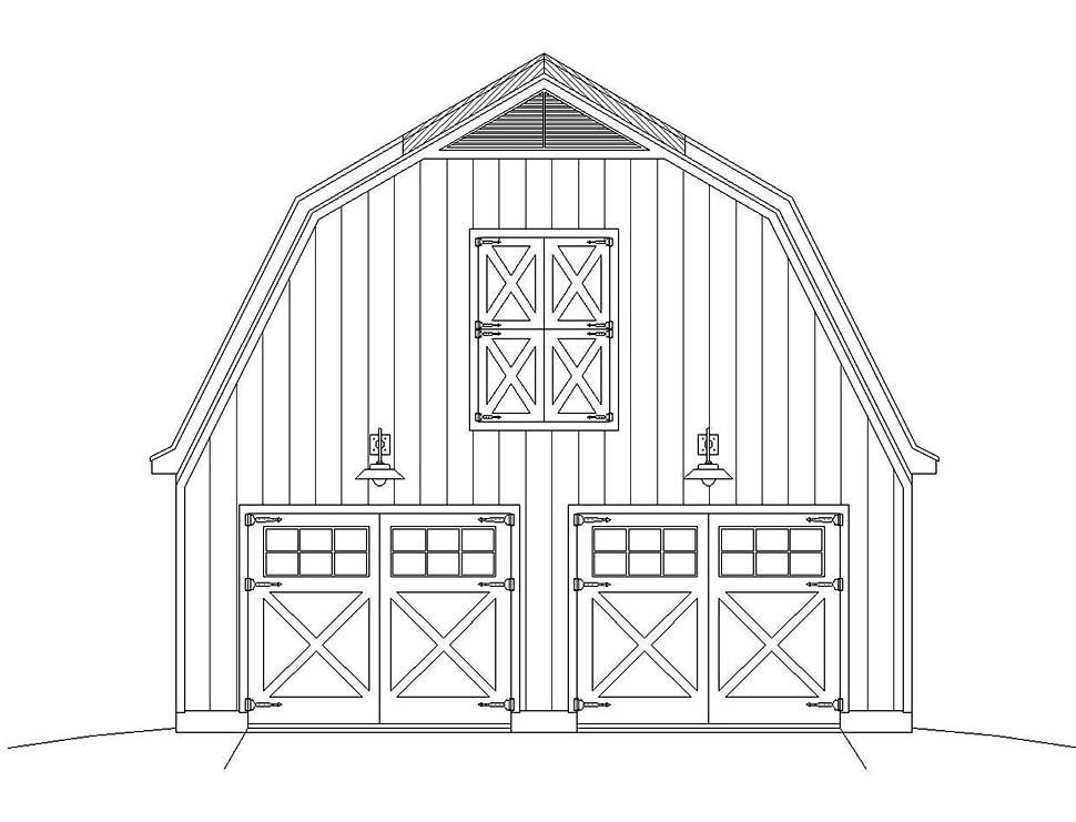 3 Car Garage Plan 51613 Picture 3