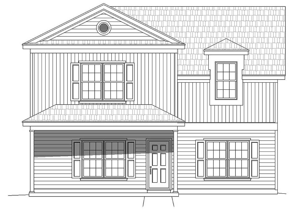 Traditional House Plan 51617 with 3 Beds, 3 Baths Picture 3