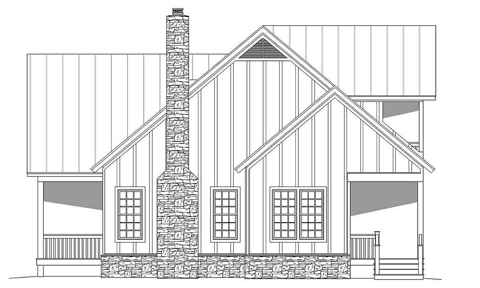 Country, Craftsman, Southern, Traditional House Plan 51619 with 2 Beds, 3 Baths Picture 1