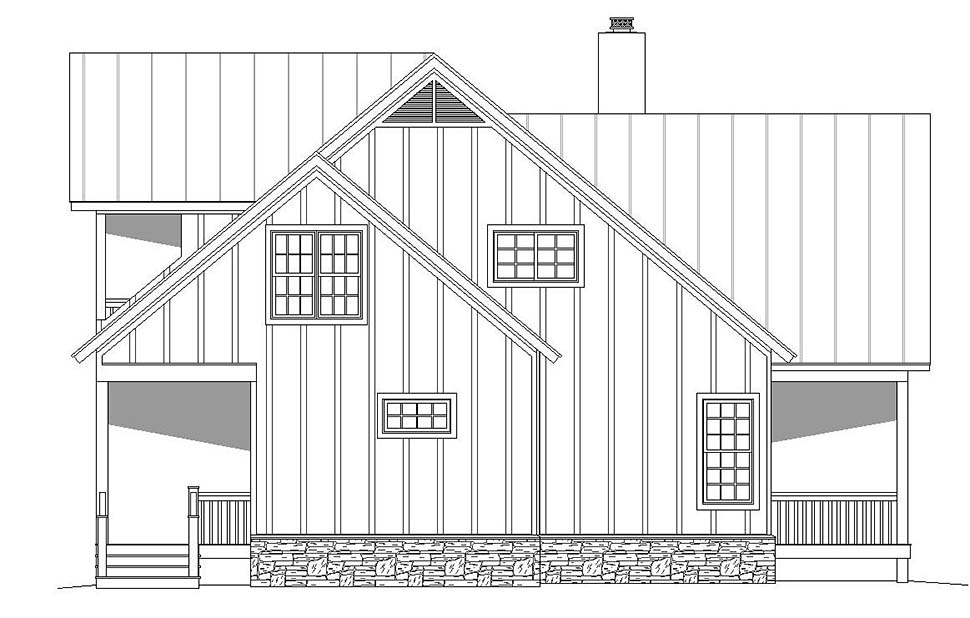 Country, Craftsman, Southern, Traditional House Plan 51619 with 2 Beds, 3 Baths Picture 2