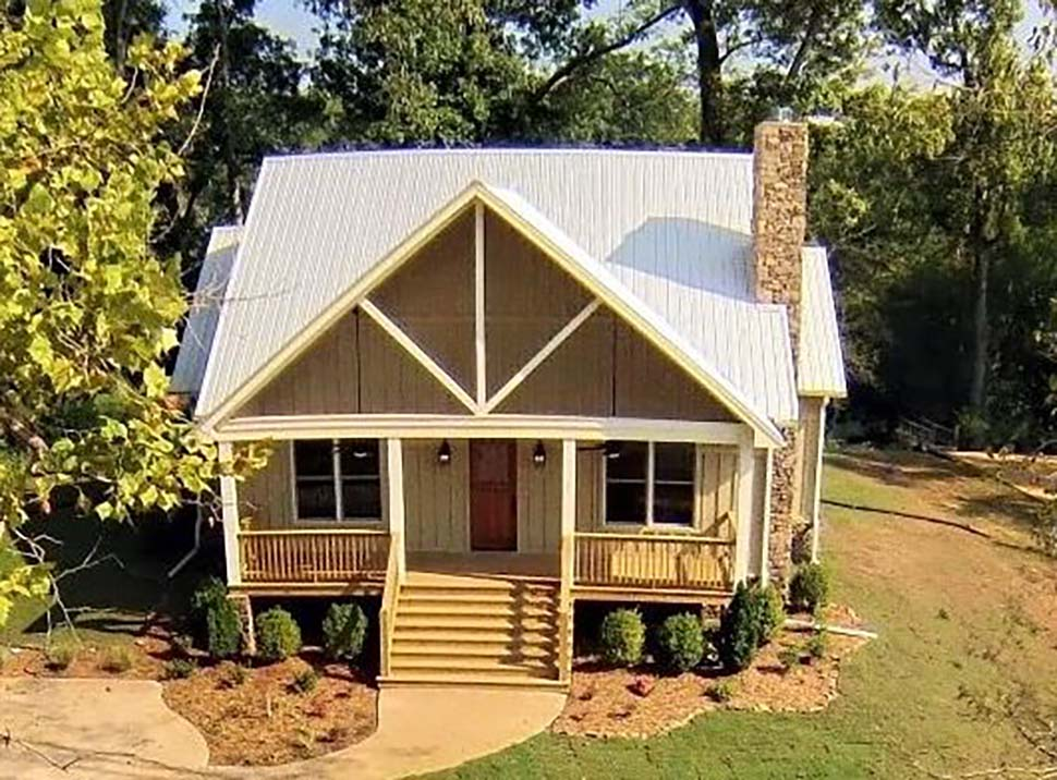 Country, Craftsman, Southern, Traditional House Plan 51619 with 2 Beds, 3 Baths Picture 3