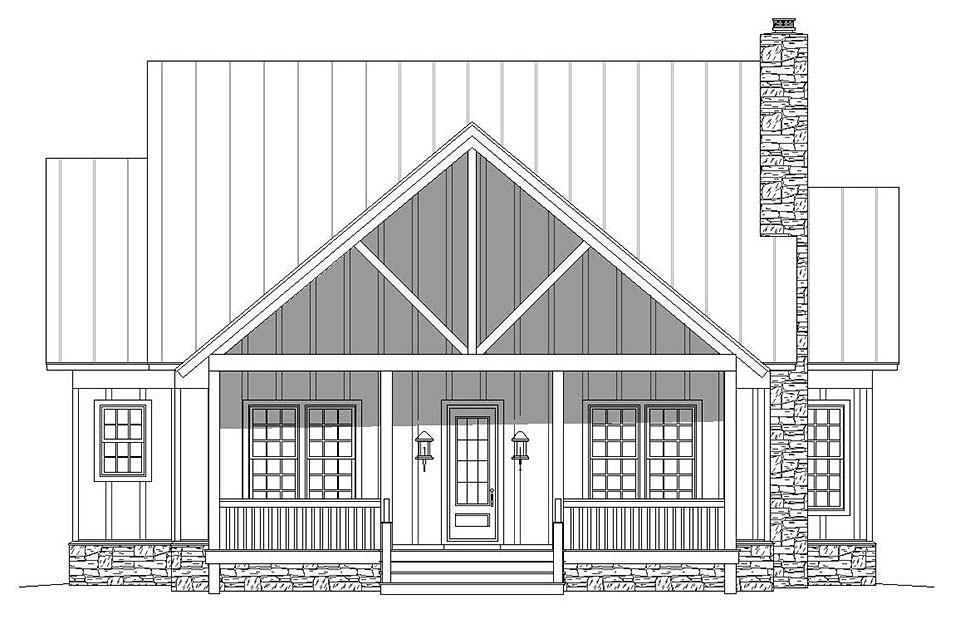 Country, Craftsman, Southern, Traditional House Plan 51619 with 2 Beds, 3 Baths Picture 4