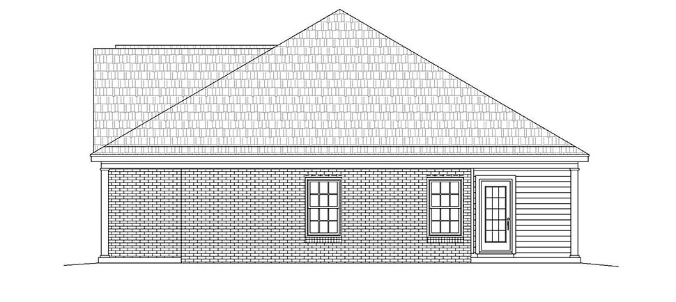 European, Ranch, Southern, Traditional House Plan 51623 with 2 Beds, 2 Baths, 2 Car Garage Picture 1