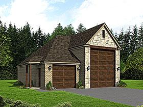 3 Car Garage Plan 51624, RV Storage Elevation