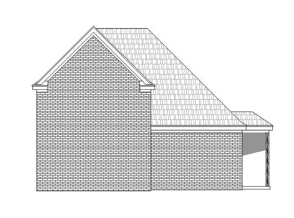 3 Car Garage Plan 51624, RV Storage Rear Elevation