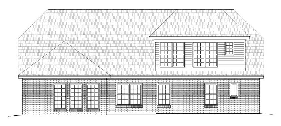 Traditional House Plan 51627 Rear Elevation