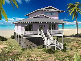 Coastal Cottage Southern House Plan 51629 Elevation