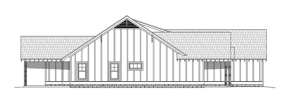 Country, Craftsman, Southern House Plan 51631 with 3 Beds, 3 Baths, 2 Car Garage Picture 2
