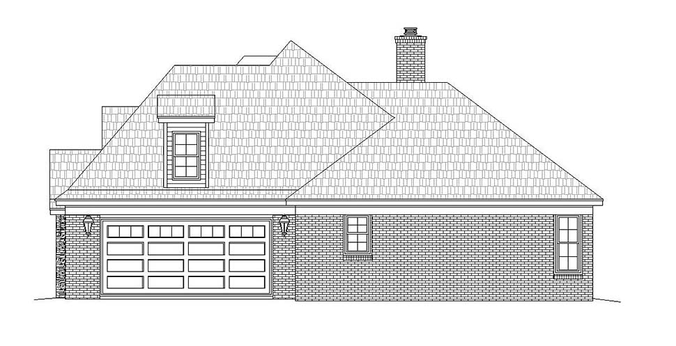 European, French Country, Tudor House Plan 51632 with 4 Beds, 4 Baths, 2 Car Garage Picture 1