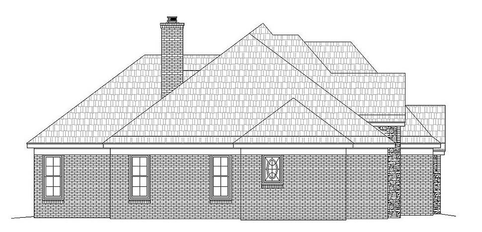 European, French Country, Tudor House Plan 51632 with 4 Beds, 4 Baths, 2 Car Garage Picture 2