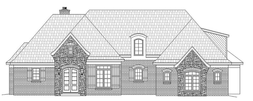 European, French Country, Tudor House Plan 51632 with 4 Beds, 4 Baths, 2 Car Garage Picture 3