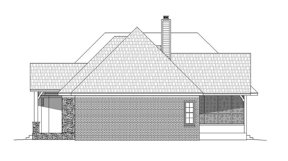 French Country House Plan 51633 with 3 Beds, 4 Baths, 2 Car Garage Picture 1