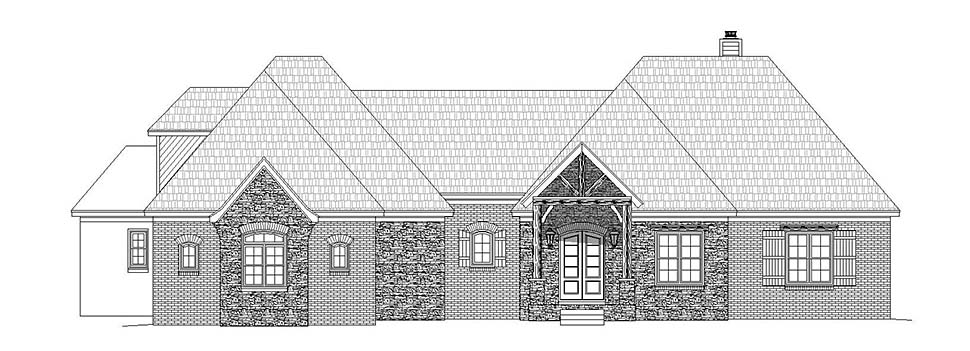 French Country House Plan 51633 with 3 Beds, 4 Baths, 2 Car Garage Picture 3