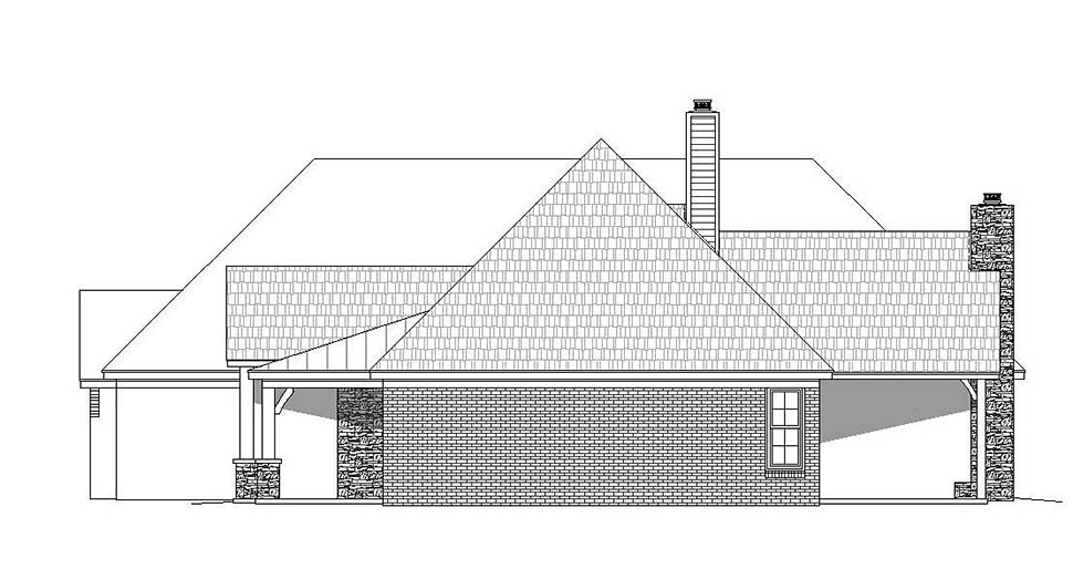 European, French Country House Plan 51634 with 4 Beds, 4 Baths, 3 Car Garage Picture 1