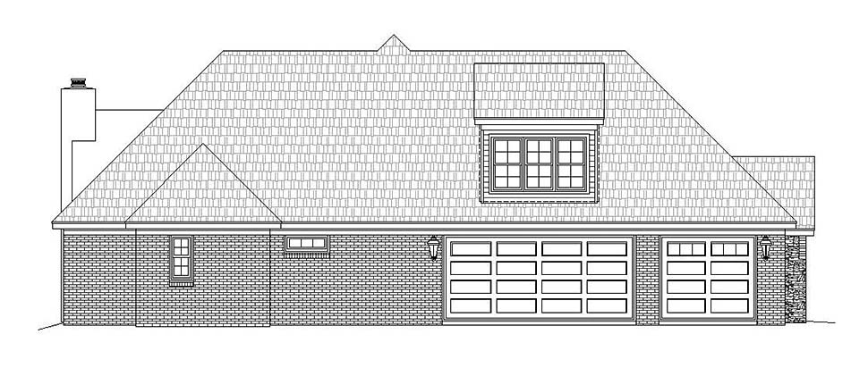 European, French Country House Plan 51634 with 4 Beds, 4 Baths, 3 Car Garage Picture 2