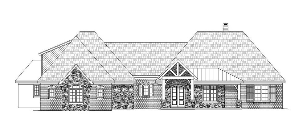 European, French Country House Plan 51634 with 4 Beds, 4 Baths, 3 Car Garage Picture 3