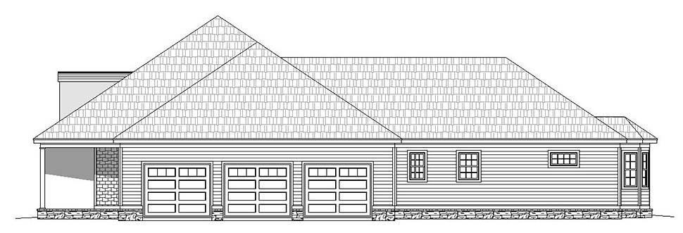 European, French Country, Ranch House Plan 51635 with 4 Beds, 5 Baths, 3 Car Garage Picture 1