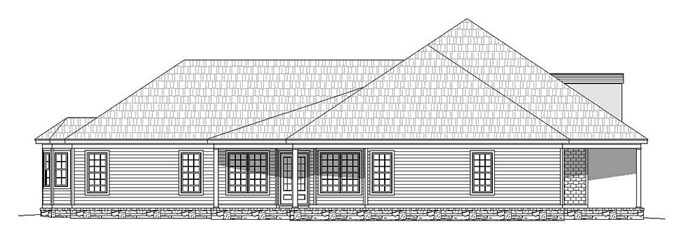 European, French Country, Ranch House Plan 51635 with 4 Beds, 5 Baths, 3 Car Garage Picture 2
