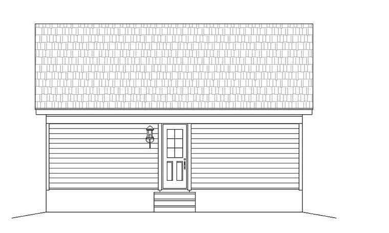 Cabin , Country , Southern , Traditional , Rear Elevation of Plan 51640