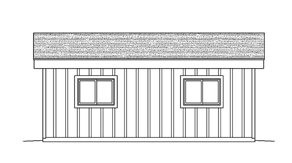 Contemporary , Rear Elevation of Plan 51641