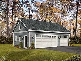 Traditional 3 Car Garage Plan 51642 Elevation