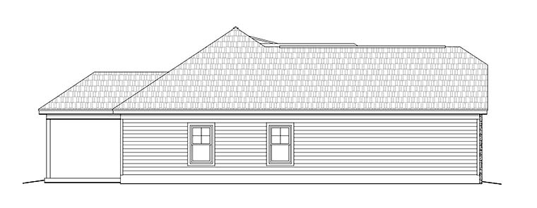 Cottage, Craftsman, Ranch, Southern House Plan 51647 with 3 Beds, 2 Baths, 2 Car Garage Picture 2