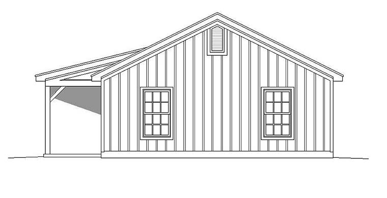 Cabin, Ranch, Southern House Plan 51650 with 2 Beds, 1 Baths Picture 1