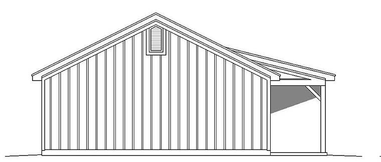 Cabin, Ranch, Southern House Plan 51650 with 2 Beds, 1 Baths Picture 2