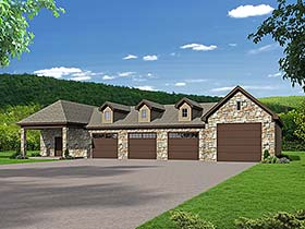 Traditional Garage Plan 51651 Elevation
