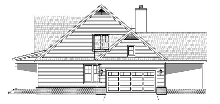 Country, Southern House Plan 51655 with 4 Beds, 3 Baths, 2 Car Garage Picture 1