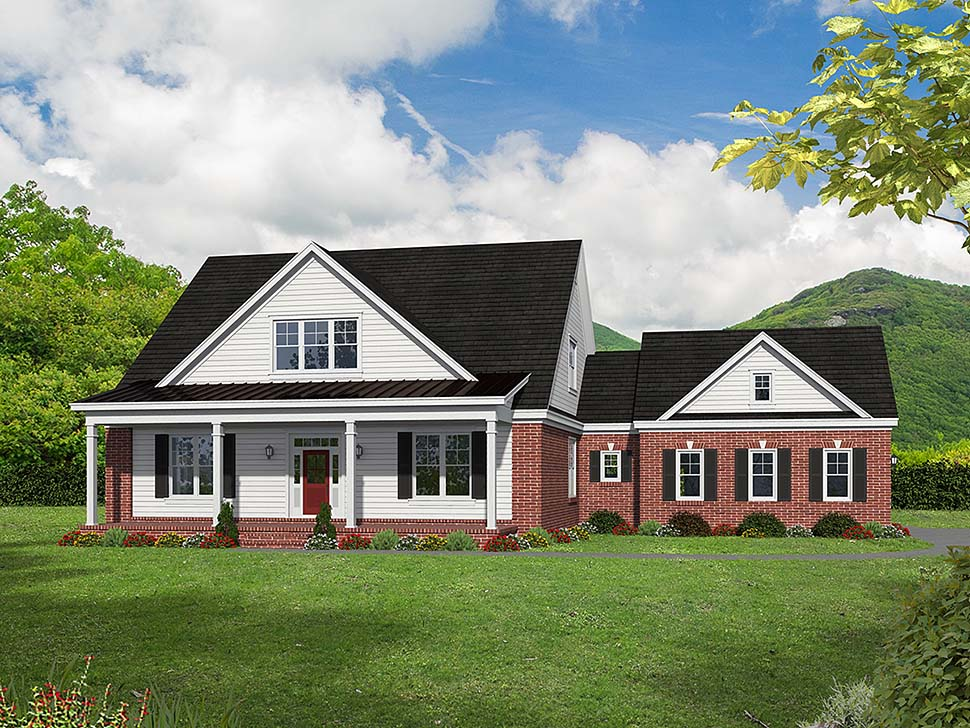 House Plan 51657 | Cottage Country Southern Style Plan with 2270 Sq Ft, 3 Bedrooms, 2 Bathrooms, 2 Car Garage Elevation
