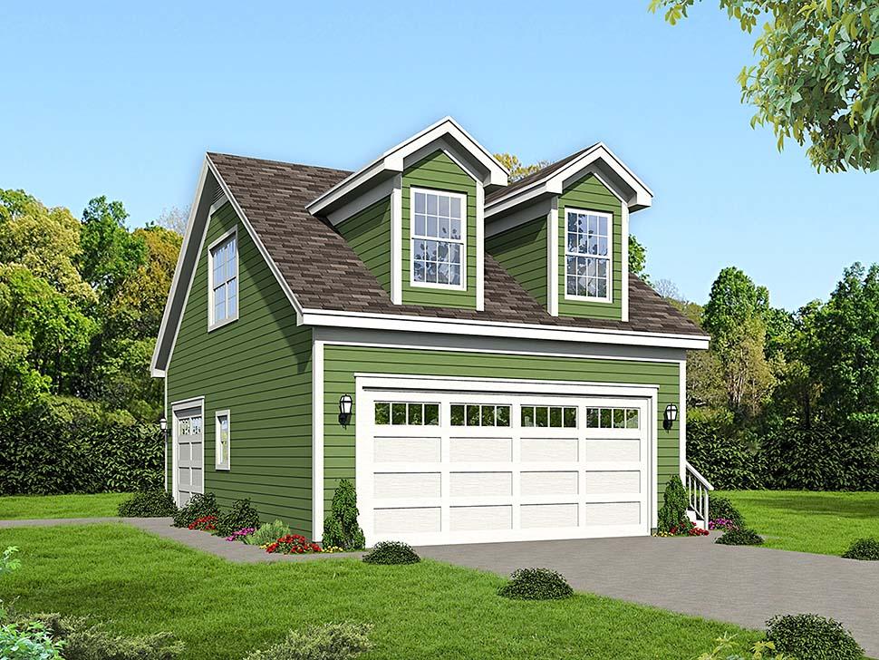 3 Car Garage Plan 51660 Elevation