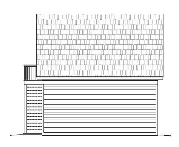 3 Car Garage Plan 51660 Rear Elevation