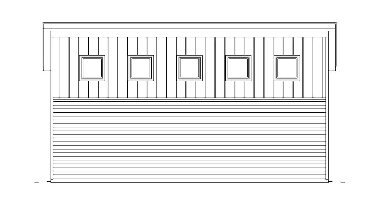 Cape Cod, Contemporary, Saltbox, Traditional 4 Car Garage Plan 51671, RV Storage Picture 2