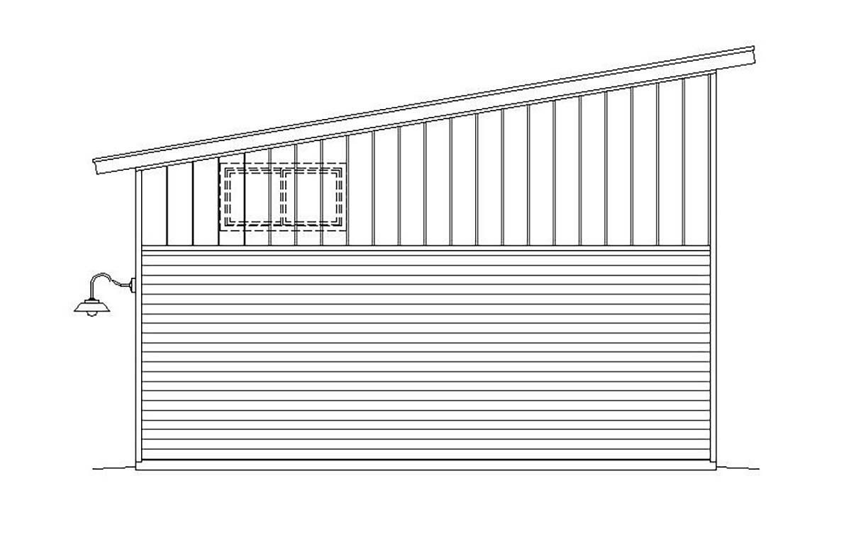 Cape Cod, Contemporary, Saltbox, Traditional 4 Car Garage Plan 51671, RV Storage Rear Elevation