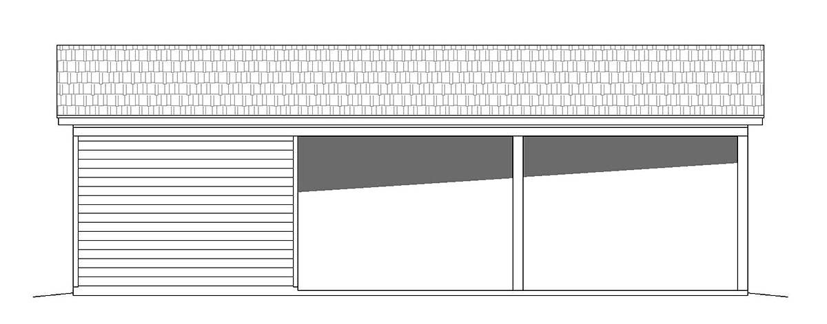 Bungalow, Cape Cod, Coastal, Colonial, Cottage, Country, Craftsman, Farmhouse, Prairie, Ranch, Saltbox, Traditional, Tudor 3 Car Garage Plan 51673 Picture 2