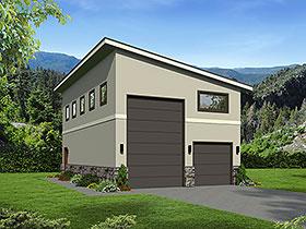 Garage Plan 51674 | Contemporary Traditional Style Plan, 2 Car Garage Elevation