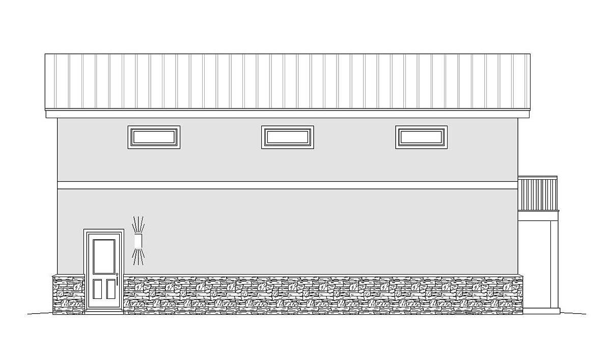 Contemporary, Modern 2 Car Garage Plan 51674, RV Storage Picture 1